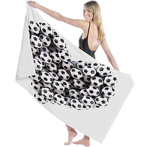 Toalla Beach Towels Toallas Shower Towels Bathroom Towels Fútbol Amor Deportes en forma de corazón,130CM X80CM