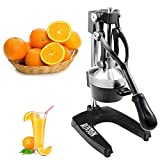 ROVSUN Commercial Grade Citrus Juicer Hand Press Manual Fruit Juicer Juice Squeezer Citrus Orange Lemon Pomegranate (Black)