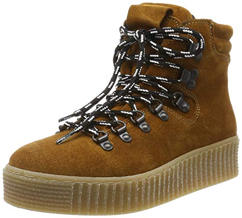 Pieces Pshalima Suede Boot, Sneakers Basses Femme, Marron (Cognac Cognac), 40 EU