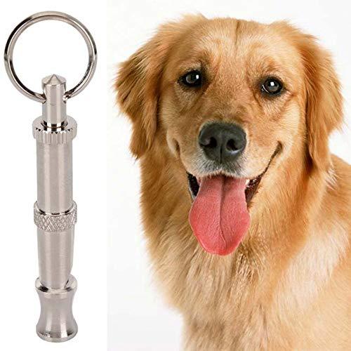 Silbato ahuyentador de perros para cachorros y mascotas, dos tonos, ultrasónico, para evitar ladridos y ultrasonidos, para entrenamiento con repelente de sonido, Blanco