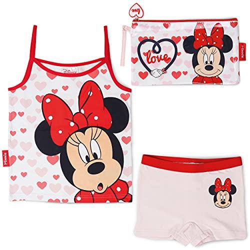 BONNYCO Pijama Niña y Neceser Pequeño Minnie Mouse - Conjunto de Pijama...