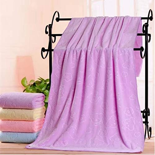 Shoplifemore Toallas superabsorbentes, toalla de secado rápido, suave y absorbente, textiles para el hogar y las necesidades diarias, regalos diarios (35 x 75 cm, morado)