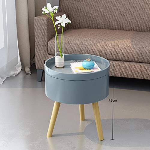Longxs Coffee Table With Storage,Simple Small Coffee Table, Mini Side Table, Creative Side Table, Bedroom Bedside Table, Mixed Tripod Table-Dark Gray_Small Tube Table Standard 38 * 38 * 43
