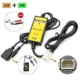 Family Homes Adaptateur auxiliaire USB AUX pour Voiture stéréo numérique de Voiture pour Toyota Camry 6 + 6...