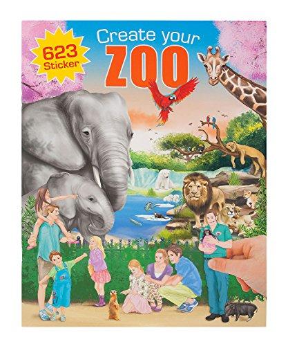 Depesche 7896 - Malbuch Create your Zoo mit Stickern, sortiert