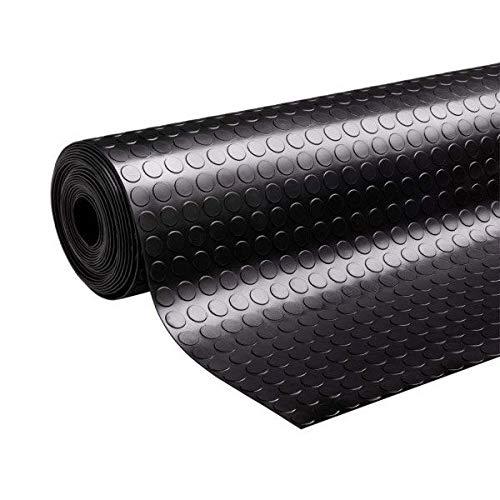 Lucatex - rollo 1x2,5m pavimento suelo goma circulos 3mm espero, talleres, comercios, garajes, colegios, embarcaciones. suelo antideslizante, aislante y antiestático