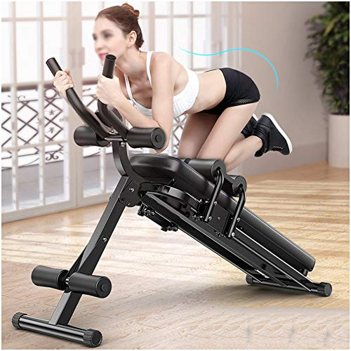 Whole Body Workout Machine Waist Cruncher Core/Cardio Abdominal and Back Trainer/Sit Up Bench ab Trainer Abdominal Ab Crunch/Fitness Trainer with 3 Difficulty Levels, with LCD Monitor,Black
