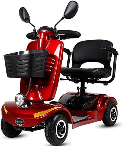 Elektro Mobilitätshilfe/Scooter 4 Wheel Drive mit Beleuchtung Elektroroller for Erwachsene/Senioren/Behinderte Freizeit Scooter Elektro-Rollstuhl Long Range Travel Scooter bis zu 10 Km/h/Trag