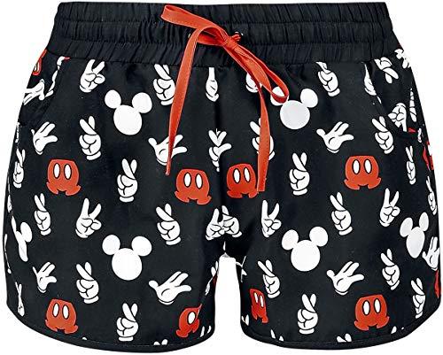 Micky Maus Hand Frauen Badeshort schwarz M 100% Polyester Disney, Fan-Merch, Filme