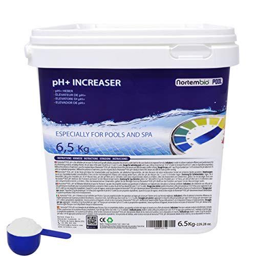 NortemBio Pool pH+ Plus 6,5 Kg, Elevateur Naturel du pH pour Piscine et Spa, Améliore la Qualité...