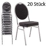 MACOShopde by MACO Möbel Bankettstühle 20er Set schwarz – Stapelstühle