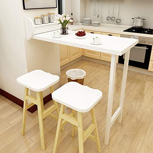 ZLP Tisch, Schreibtisch, Computer Schreibtisch Kindertisch Haushalt Folding Bartisch Retractable Wand- Esstisch Wandtisch Barhocker Einfache Dining Chair Kombination,Tabelle