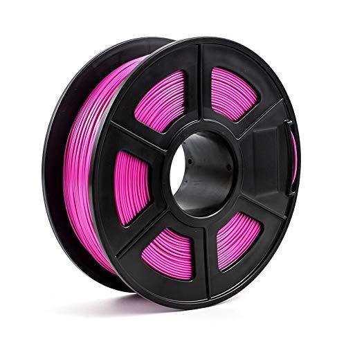 FJJ-DAYIN, Filamento Stampante 3D 1.75mm 1kg / 2.2lbs PLA PETG TPU Nylon Fibra di Carbonio conduttivo ABS PC Pom ASA Legno Hips PVA filamento di plastica (Colore : PLA Purple)