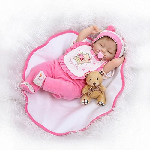 Pinky Soft Silicone Vinyl 17' 43cm Real Life Like Reborn Baby Doll...