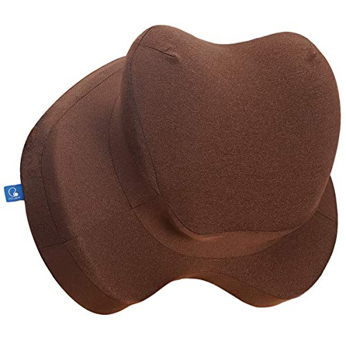 COOLBEBE Lumbar Support Pillow for Office Chair, Memory Foam Lumbar Cushion for Car - Premium Back Pillow Cushion with Ergonomic Designed for Lower Back Pain Relief Improve Posture (Brown)