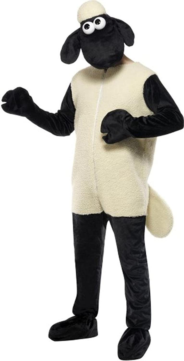 Unisex Film & Tv Fancy Dress Shaun The Sheep Licensed Complete Costumes Outfit