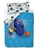 Disney Finding Dory Funda nórdica, Algodón-Poliéster, Azul, Cama 80/95 (Twin), 200.0x90.0x25.0 cm, 3 Unidades