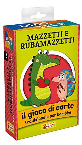 Lisciani Giochi- Ludoteca Le Carte dei Bambini Mazzetti e Rubamazzetti Gioco di società, Multicolore, 85804