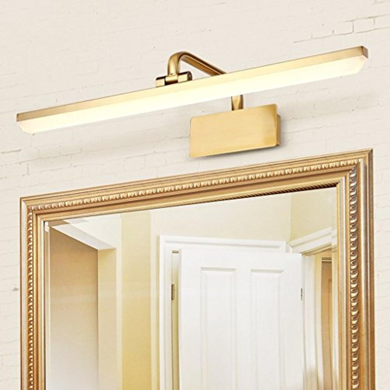 Vordere Scheinwerfer LMirror Badezimmer Spiegelschrank Licht Kommode Make-up Light Einfache und moderne Energiesparlampen (Farbe  Warmes, weies Licht-60cm 14 W)