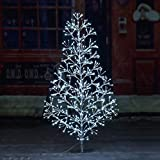 Lightshare 4ft 496L Artificial Christmas Tree Light,White Light for Home Garden Decoration,Winter,Wedding,Birthday,Christmas,Holiday,Party Decoration,Silver
