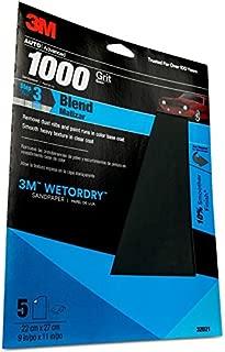 3M 1000 Grit Imperial Wetordry Sandpaper Sheet, 9in x 11 in, Pack of 5