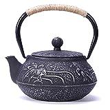 JUEQI Old Dutch Cast Iron Teapot, Enamel Craft Japanese Cast...