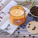 Supreme Lights Duftkerze im Glas Gelb 100% Natur Kokosnuss Wachs Kerzen mit Deckel Aromatische...