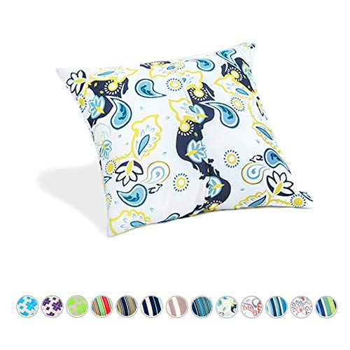 """Outdoor Indoor Water Resistant 18"""" Filled Scatter Cushion - Paisley Print"""