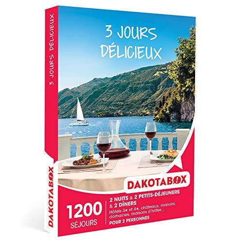 DAKOTABOX - 3 jours délicieux - Coffret Cadeau Séjour Gourmand - 2 nuits avec petits-déjeuners et 2 dîners pour 2 personnes