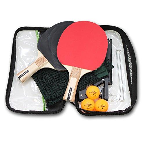 DUNLOP Rage Tischtennis Set Ping-Pong Schläger Netz Bälle
