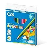 Oferta Lápis de Cor CIS, Multicor, pacote de 24 por R$ 34.19