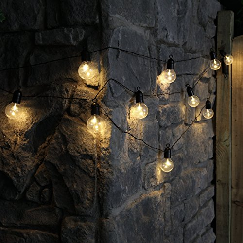 Festive Lights Festoon Lights - Battery Powered - Timer - 4.5m Black Cable - Warm White LEDs