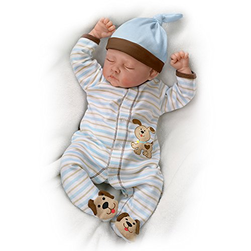Sweet Dreams, Danny So Truly Real Lifelike & Realistic Weighted Newborn Baby Boy Doll 19-inches by The Ashton-Drake Galleries