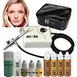 Art of Air MEDIUM Complexion Professional Airbrush Cosmetic Makeup System / 4pc Foundation Set with Blush, Bronzer,...