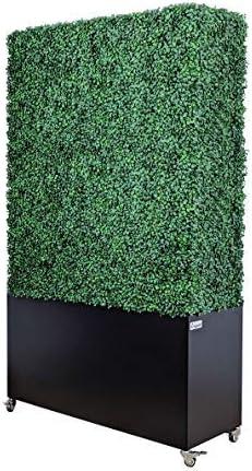 service ARTIGWALL Artificial Boxwood Hedge Divider Wall with Fence Black Ultra-Cheap Deals