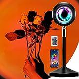 Lámpara de puesta de sol, varios colores Luz de puesta de sol Proyector de arco iris Lámpara de proyección de puesta de sol Lámpara de luz solar de rotación de 180 grados para Vlog, Fotografía