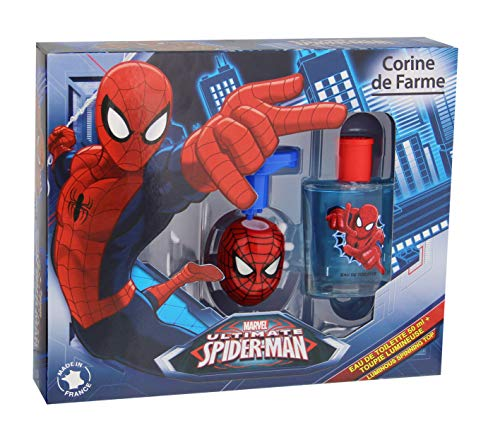 Corine de Farme Koffer Spiderman eau de toilette + cirkelvormige lichtketting 50 ml