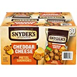 BITE-SIZED CHEESY PRETZELS: Real, tangy cheddar cheese sandwiched between 2 bite-size pretzels INDIVIDUAL PACKS OF PRETZELS: A crunchy, cheesy on-the-go snack for kids and grownups SCHOOL SNACK: Our pretzels are made in a facility that does not proce...