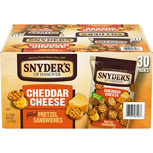 Snyder's of Hanover Pretzel Sandwiches, Cheddar Cheese, Snack Packs, 30 Ct