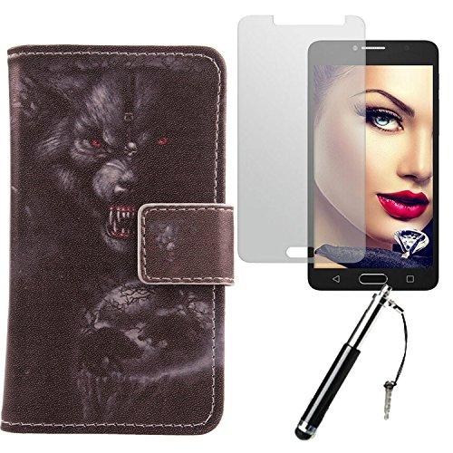 Lankashi Bear 3in1 Zubehör Set PU Flip Leder Tasche Für Alcatel One Touch Pop 4S 5.5