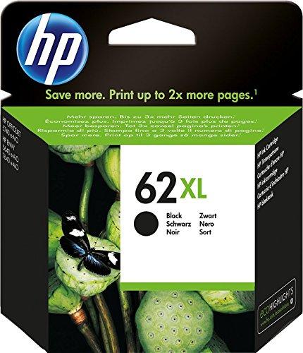 HP 62XL C2P05AE Cartuccia Originale per Stampanti a Getto d'Inchiostro, Compatibile con Stampanti HP Envy All in One 5540, 5642, 5644, 5742, 7640, l'Officejet 5740 e l' Officejet Serie 200, Nero