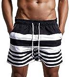 Lachi Bañador Hombre Traje de Baño Pantalon Corto de Playa Natación Piscina Secado Rápido con Forro de Mallas