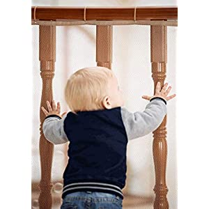 Roving Cove Railing Safety Net, Baby Proofing Stair Balcony Banister Rail Guard, Child Safety Stair Protection, Safe Rail