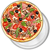 12 Inch Pizza Pan Set of 2, P&P CHEF Stainless Steel Round Oven Pizza Tray for Pizza, Pie, Cake, Cookie, Non-toxic & Healthy, Easy Clean & Dishwasher Safe