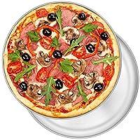 P&P CHEF 11.8インチ ピザパン 2個セット ステンレススチール 丸型 オーブンピザトレイ ピザ/パイ/ケーキ/クッキー用 非毒性&健康的 お手入れ簡単&食器洗い機対応