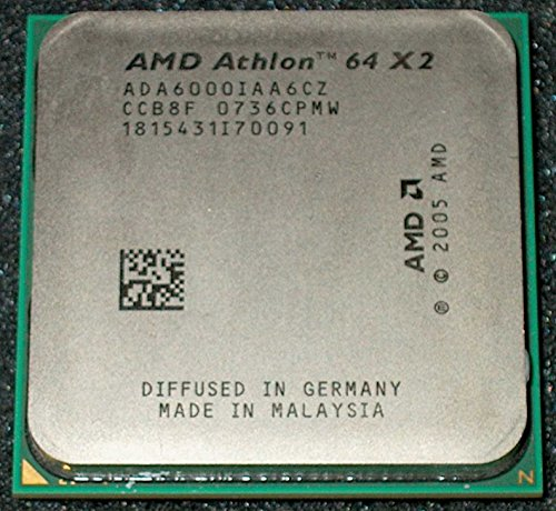 AMD Athlon X2 Dual-Core 6000+ 3GHz 1MB L2 - Procesador (3 GHz, Socket AM2, 90 nm, 6000+, 64 bits, 1 MB)