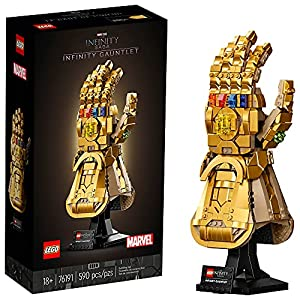 The stunning, build-and-display LEGO Marvel Infinity Gauntlet (76191) captures forever the captivating style of Marvel Studios' Avengers: Infinity War and Avengers: Endgame movies This authentic, golden LEGO brick recreation of the iconic Infinity Ga...