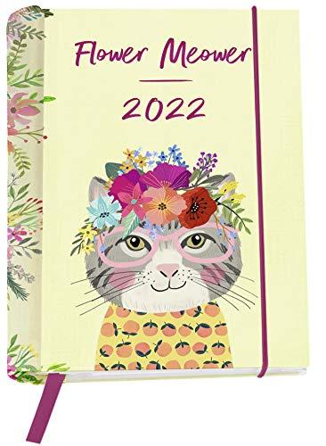 Flower Meower 2022 - Buchkalender: Wochenkalender mit 12 Postkarten (Terminplaner für die Handtasche)