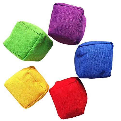 BSTOB 20PCS Bean Bag Throwing Game Set, Mix Color Kid Throwing Sandbags Toys Classic Bean Bag Family Interactive Game Garden Sports Games