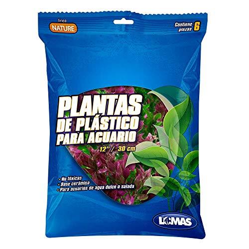 Lomas FL7505 Plantas para Acuario 12' (30 cm) 6 Pz